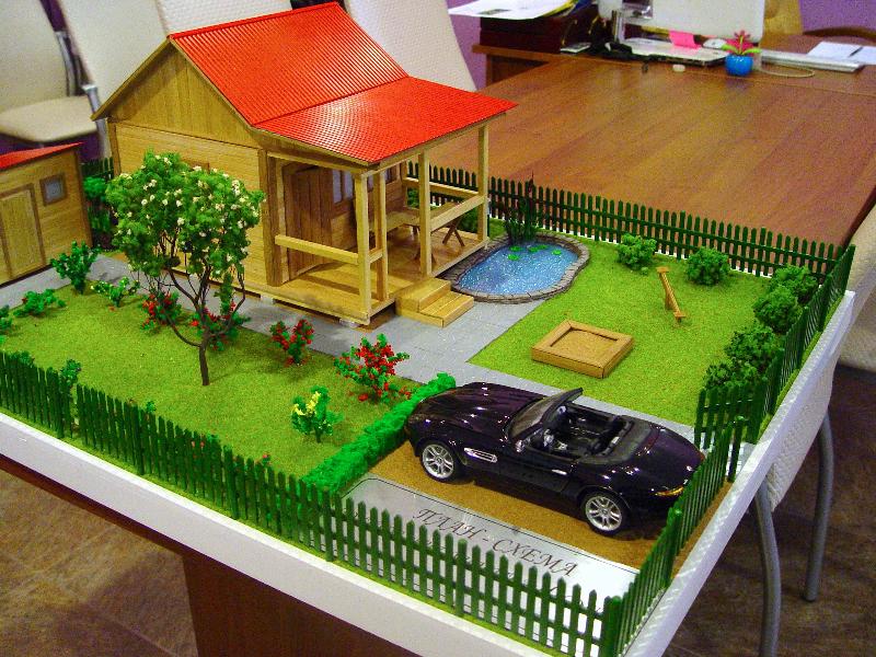 Макет садового домика
